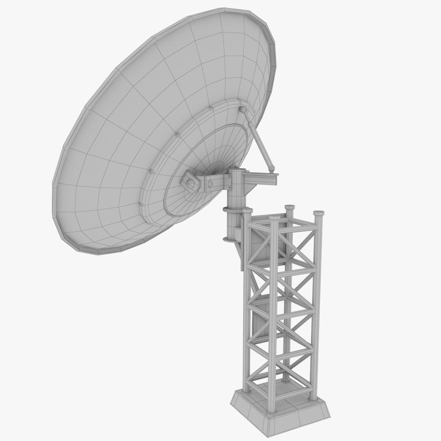 Satellietschotel Set royalty-free 3d model - Preview no. 25