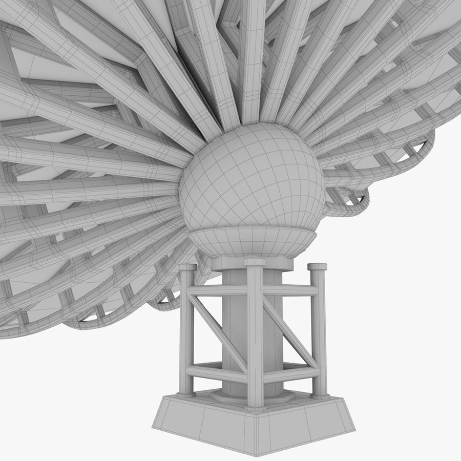 Satellietschotel Set royalty-free 3d model - Preview no. 44