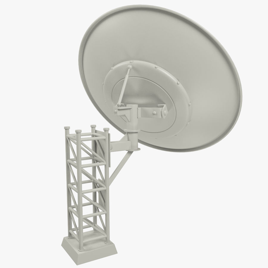 Satellietschotel Set royalty-free 3d model - Preview no. 20