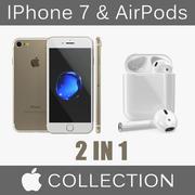 Coleção de modelos 3D para iPhone 7 e AirPods 3d model