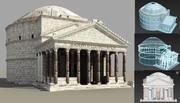 pantheon templet Rom, Italien 3d model