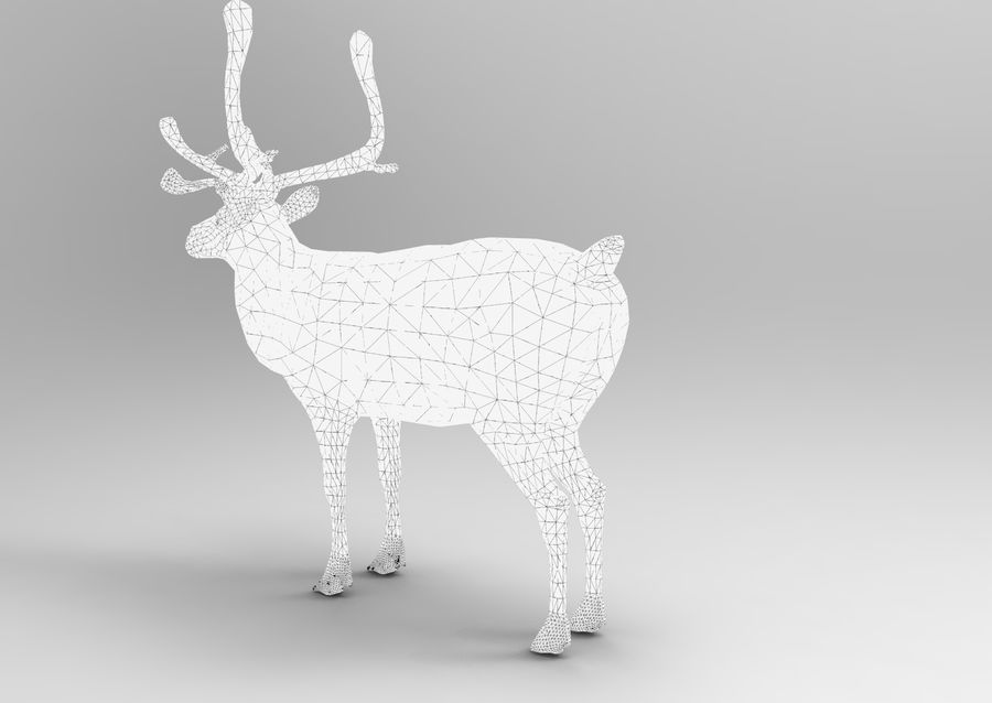 Modell mit Rentier-Takelage royalty-free 3d model - Preview no. 16
