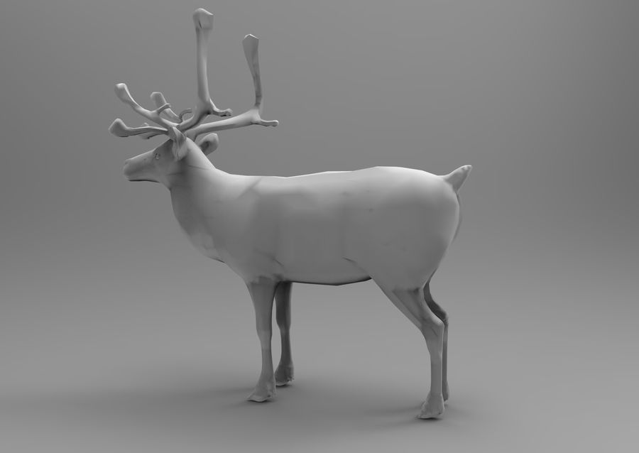 Modell mit Rentier-Takelage royalty-free 3d model - Preview no. 11