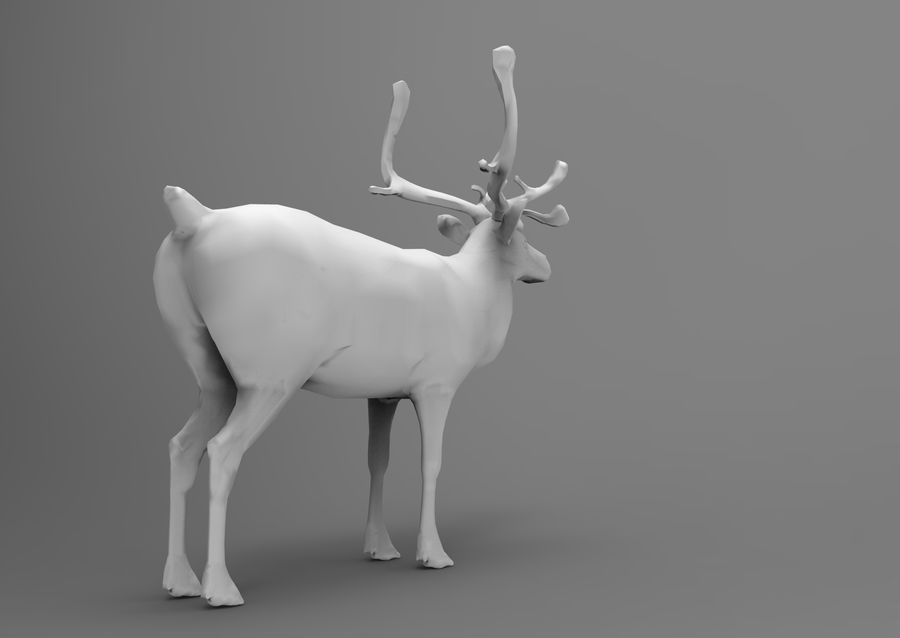 Modell mit Rentier-Takelage royalty-free 3d model - Preview no. 10
