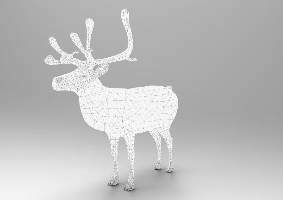 Modell mit Rentier-Takelage royalty-free 3d model - Preview no. 15