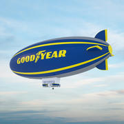 Good Year Blimp - 3D Zeppelin 3d model