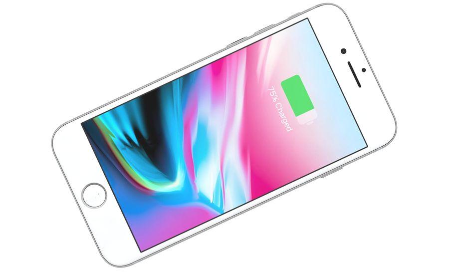 Apple iPhone 8 Gümüş royalty-free 3d model - Preview no. 12