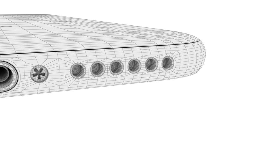 Apple iPhone 8 Gümüş royalty-free 3d model - Preview no. 35