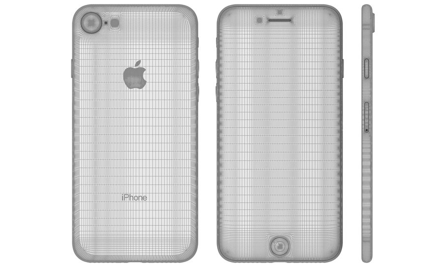 Apple iPhone 8 Gümüş royalty-free 3d model - Preview no. 23