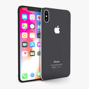 Apple iPhone X Space Gray 3d model