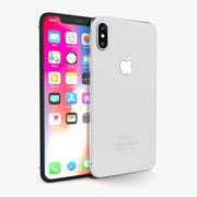 Apple iPhone X Silber 3d model