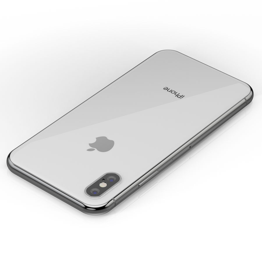 Apple iPhone X Silver and Space gray royalty-free 3d model - Preview no. 21