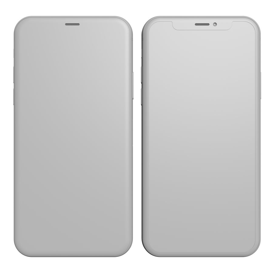 Apple iPhone X Silver and Space gray royalty-free 3d model - Preview no. 23