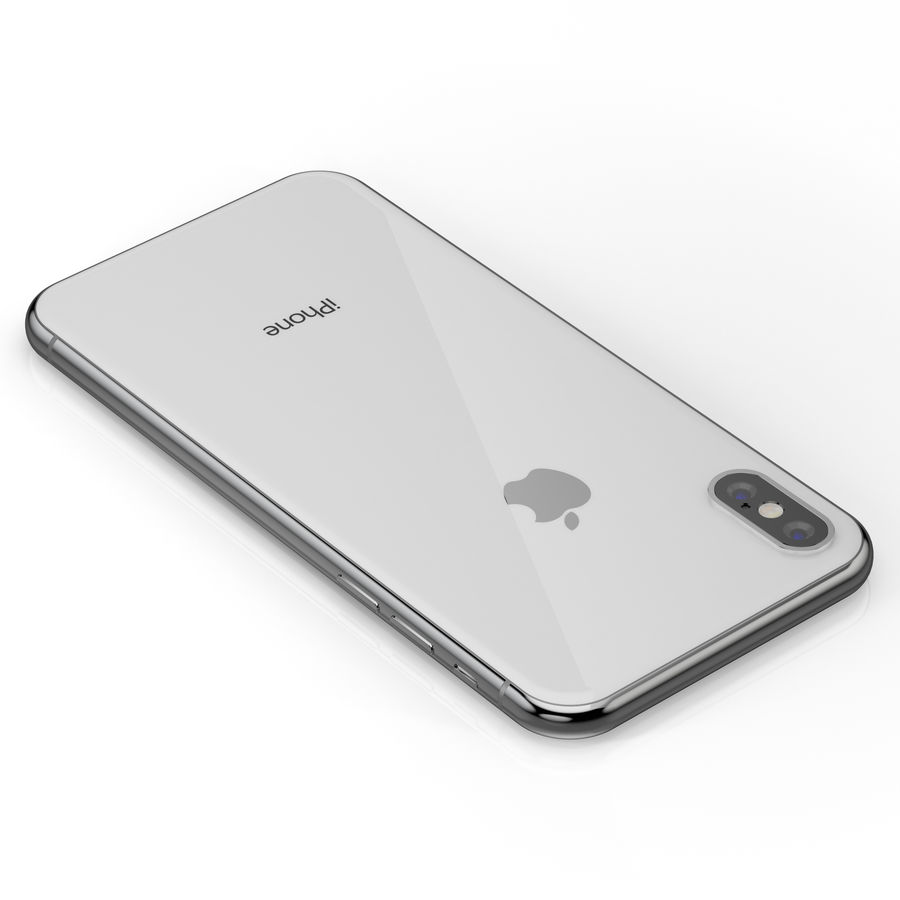Apple iPhone X Silver and Space gray royalty-free 3d model - Preview no. 22