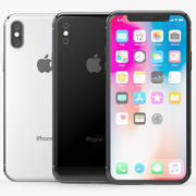 Apple iPhone X Silver and Space gray 3d model