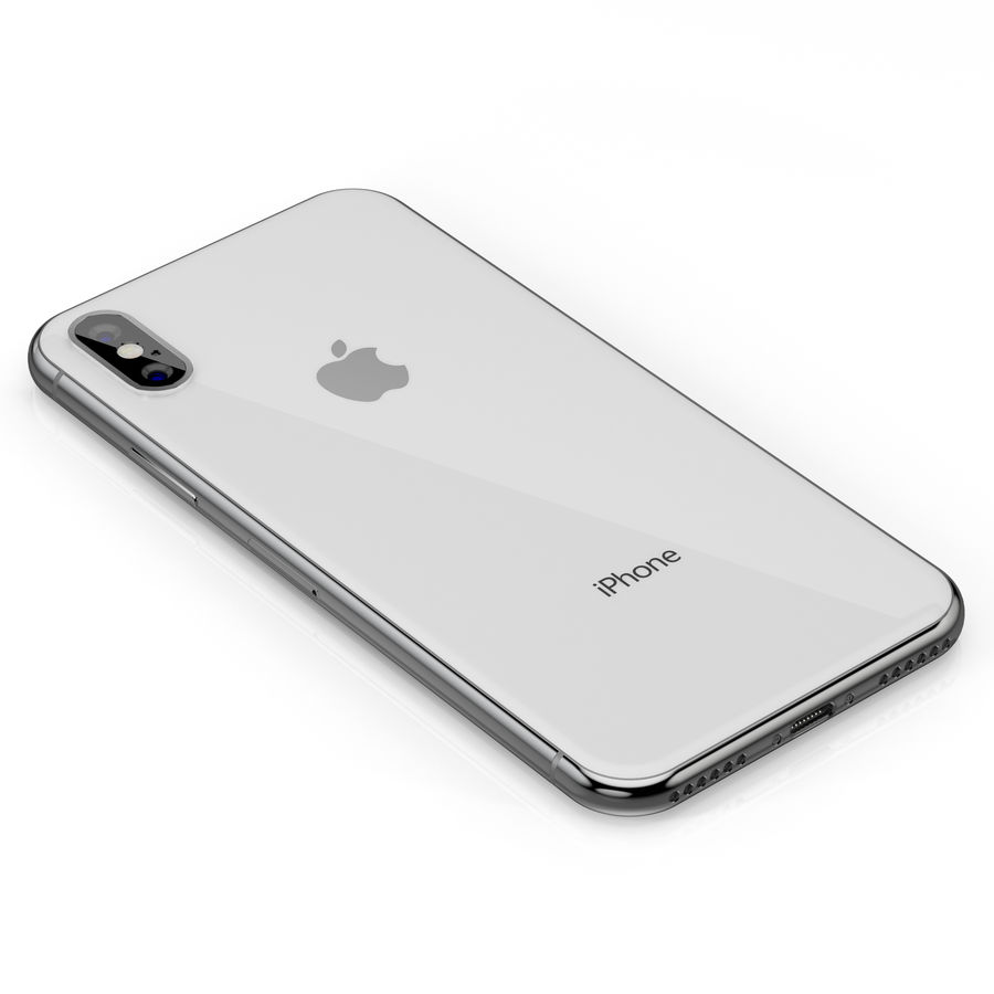 Apple iPhone X Silver and Space gray royalty-free 3d model - Preview no. 20