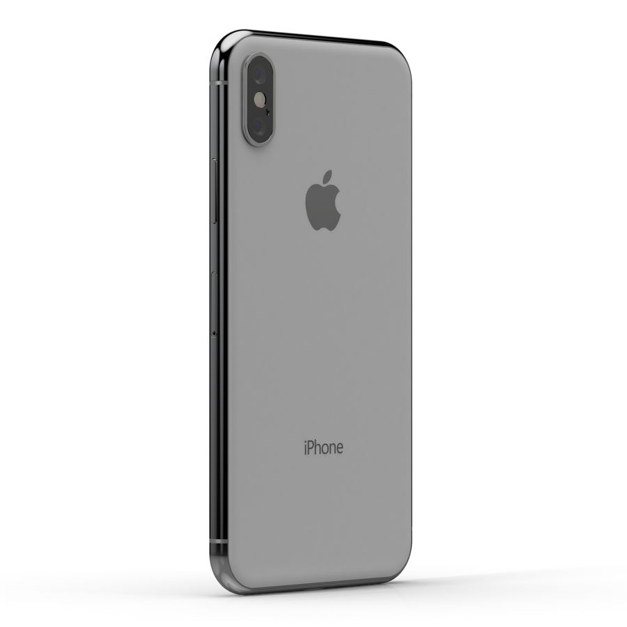 Apple iPhone X Silver and Space gray royalty-free 3d model - Preview no. 16