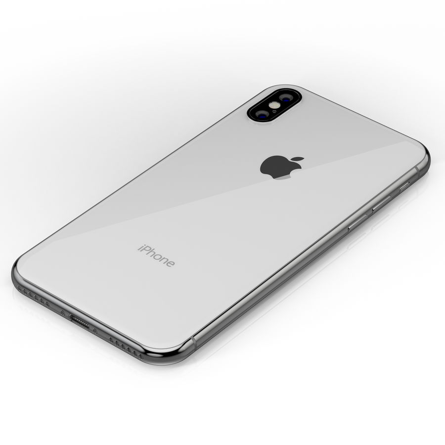 Apple iPhone X Silver and Space gray royalty-free 3d model - Preview no. 19