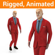 Man rigged animowany model 3d model