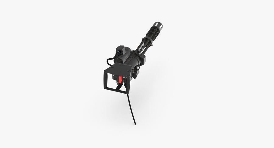 M134 Minigun Dirt royalty-free 3d model - Preview no. 6