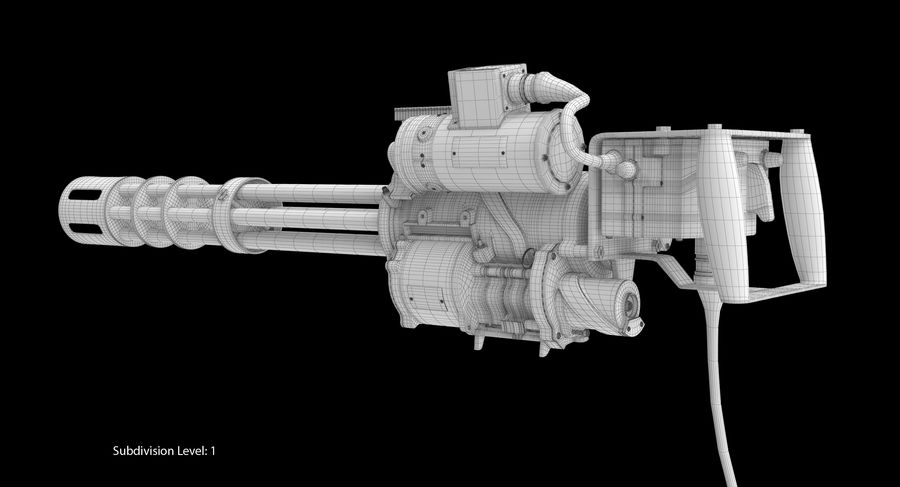 M134 Minigun Dirt royalty-free 3d model - Preview no. 25