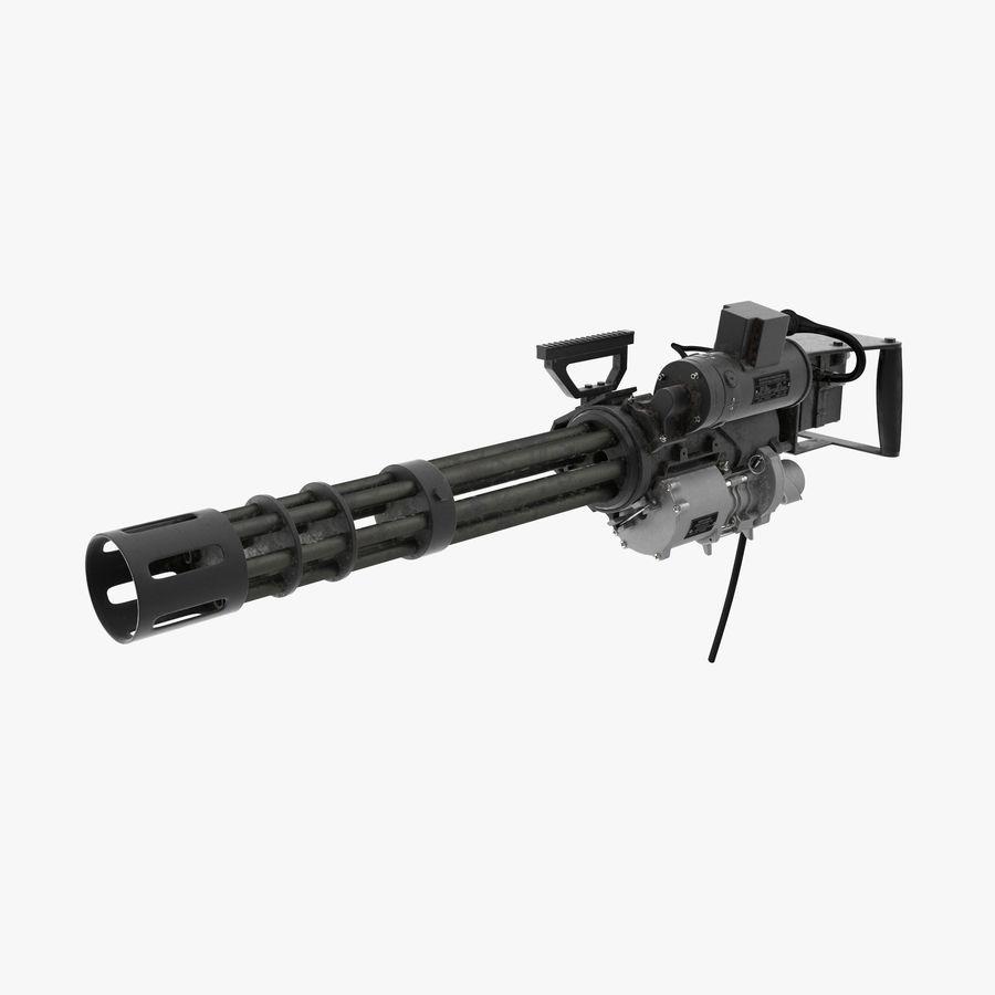 M134 Minigun Dirt royalty-free 3d model - Preview no. 1