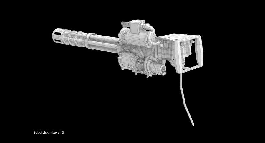 M134 Minigun Dirt royalty-free 3d model - Preview no. 16