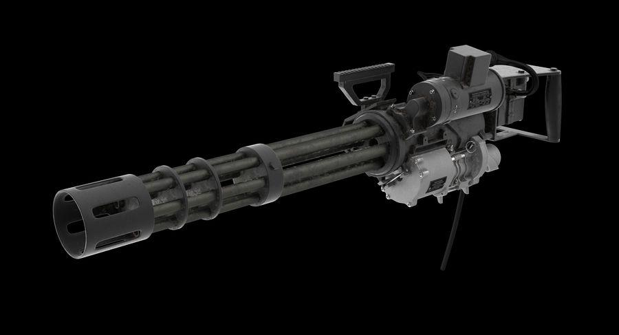 M134 Minigun Dirt royalty-free 3d model - Preview no. 3
