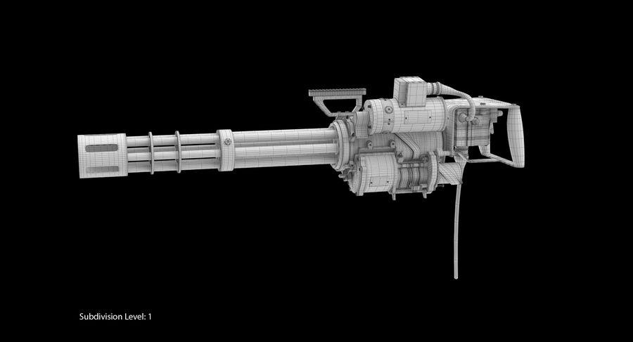 M134 Minigun Dirt royalty-free 3d model - Preview no. 15