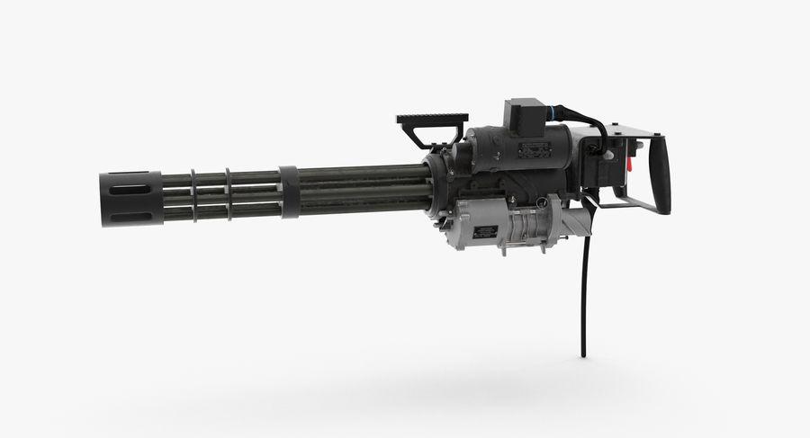 M134 Minigun Dirt royalty-free 3d model - Preview no. 4