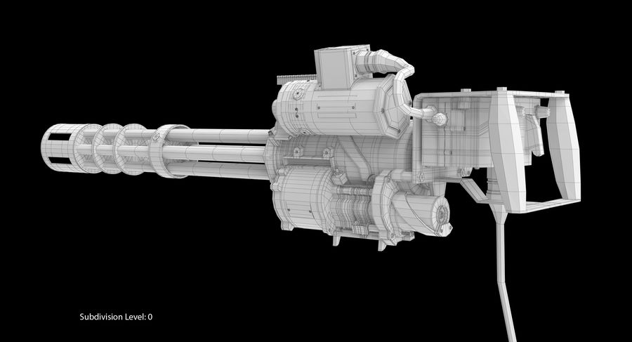 M134 Minigun Dirt royalty-free 3d model - Preview no. 24