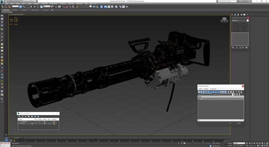 M134 Minigun Dirt royalty-free 3d model - Preview no. 31