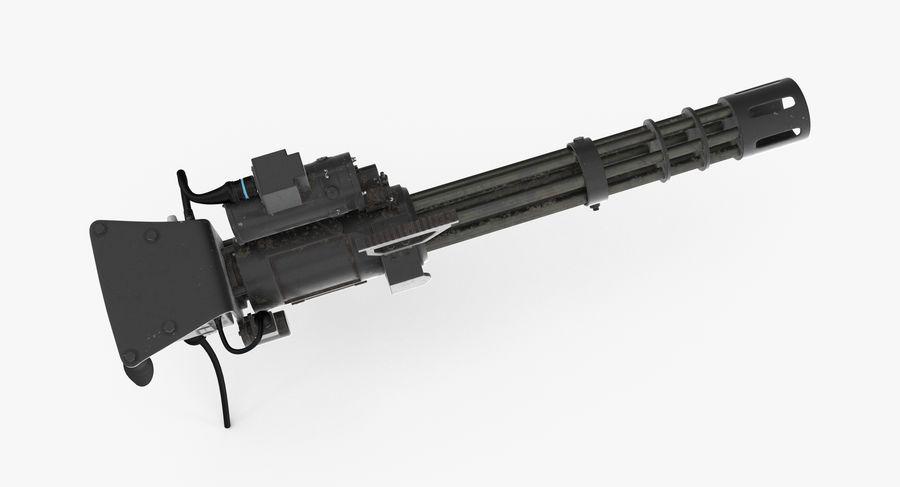 M134 Minigun Dirt royalty-free 3d model - Preview no. 10
