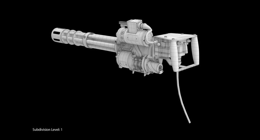 M134 Minigun Dirt royalty-free 3d model - Preview no. 17