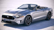 Ford Mustang GT Convertible 2018 3d model