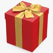 礼品盒红3 3d model