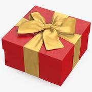 선물 상자 레드 2 3d model