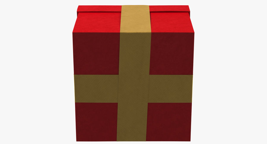 Geschenkbox Rot royalty-free 3d model - Preview no. 14