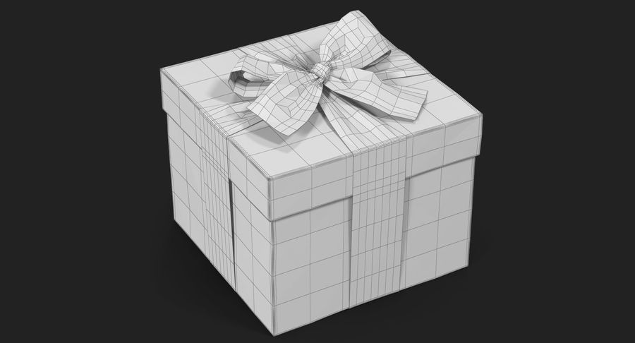Geschenkbox Rot royalty-free 3d model - Preview no. 25