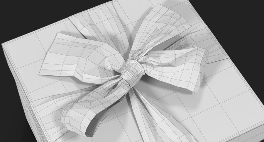 Geschenkbox Rot royalty-free 3d model - Preview no. 30