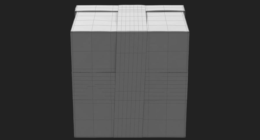 Geschenkbox Rot royalty-free 3d model - Preview no. 35
