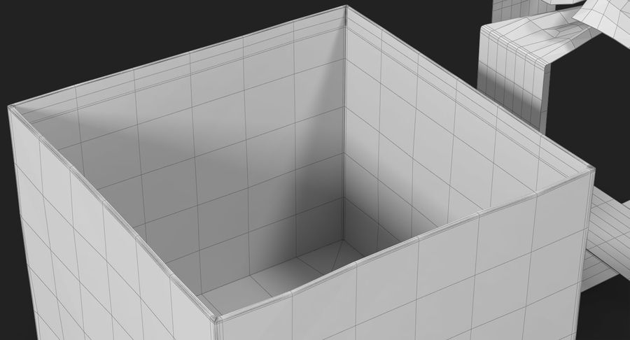 Geschenkbox Rot royalty-free 3d model - Preview no. 34