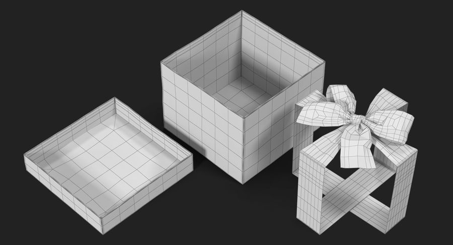 Geschenkbox Rot royalty-free 3d model - Preview no. 32