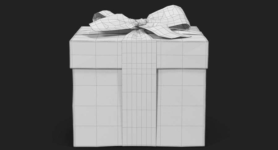 Geschenkbox Rot royalty-free 3d model - Preview no. 38