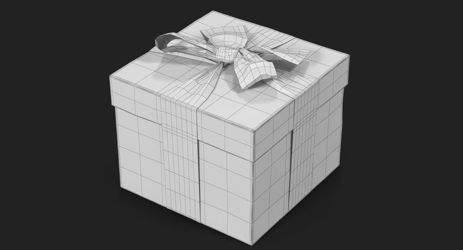 Geschenkbox Rot royalty-free 3d model - Preview no. 26