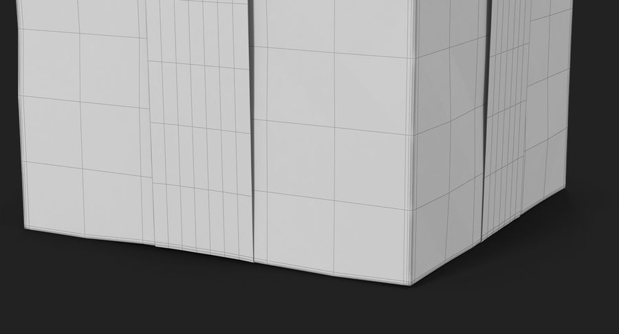 Geschenkbox Rot royalty-free 3d model - Preview no. 31