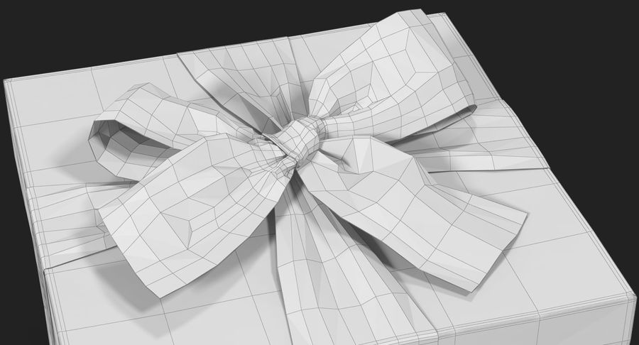 Geschenkbox Rot royalty-free 3d model - Preview no. 29