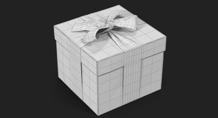 Geschenkbox Rot royalty-free 3d model - Preview no. 27