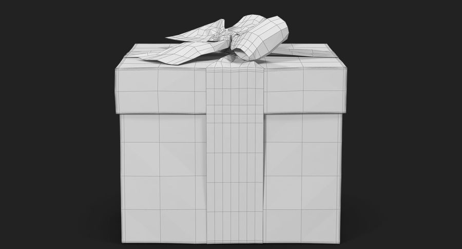 Geschenkbox Rot royalty-free 3d model - Preview no. 37