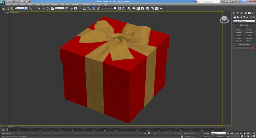 Geschenkbox Rot royalty-free 3d model - Preview no. 24